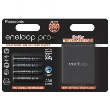 Аккумулятор Ni-Mh 930 мА·ч Panasonic eneloop pro AAA + кейс