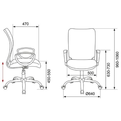 Компьютерное кресло Бюрократ CH-599AXSL/32 офисное