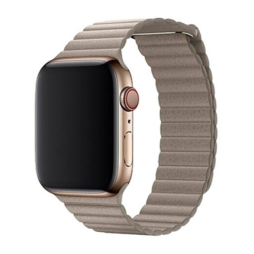 Devia Ремешок кожаный Leather Magnet Band для Apple Watch 42/44mm