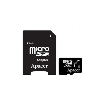 Карта памяти Apacer microSDXC Card Class 10 UHS-I U1 128GB + SD adapter
