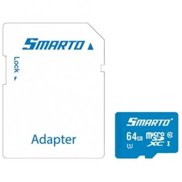 Карта памяти Smarto microSDXC Class 10 UHS-I U1 + SD adapter
