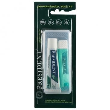 Зубная паста + щетка PresiDENT Classic дорожный набор