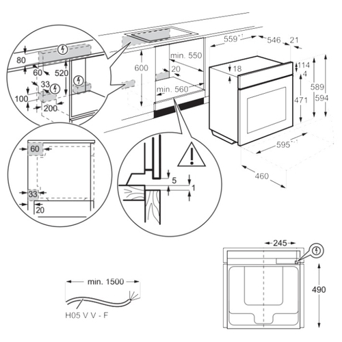 Электрический духовой шкаф Electrolux OEF5E50Z