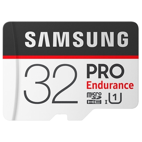 Карта памяти Samsung microSDHC PRO Endurance UHS-I U1 100MB/s 32GB + SD adapter