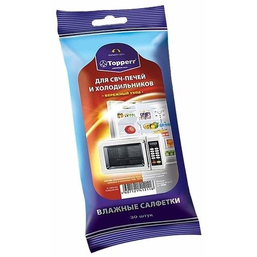 Влажные салфетки для СВЧ-печей и холодильников (3620) Topperr