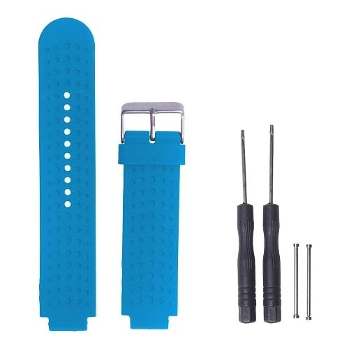 GSMIN Ремешок силиконовый Silicone для Garmin Forerunner 220/235/620/735