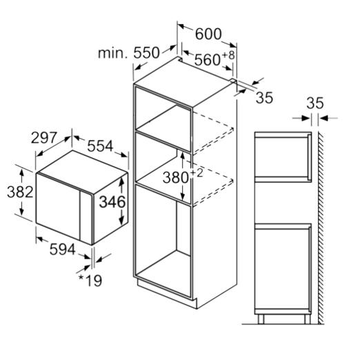 Микроволновая печь встраиваемая Bosch BEL524MB0