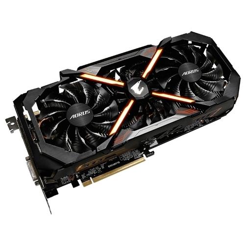 Видеокарта GIGABYTE GeForce GTX 1080 Ti 1594MHz PCI-E 3.0 11264MB 11010MHz 352 bit DVI 3xHDMI HDCP Aorus