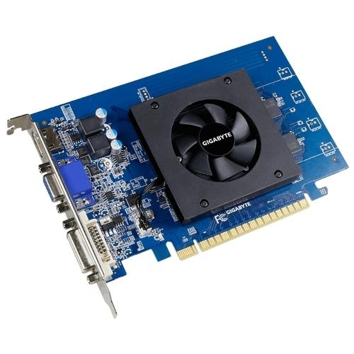 Видеокарта GIGABYTE GeForce GT 710 954Mhz PCI-E 2.0 1024Mb 5010Mhz 64 bit DVI HDMI HDCP