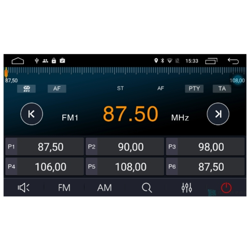 Автомагнитола Parafar IPS Tesla Lexus ES 240 2006-2012 Android 7.1 (PF108T12)