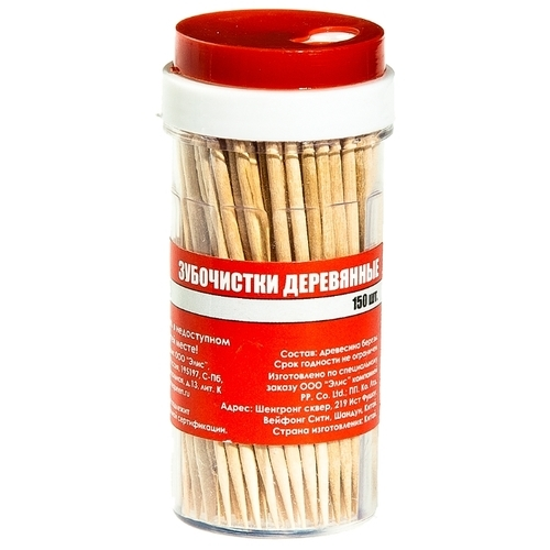 HomeQueen зубочистки деревянные, 6,5 см