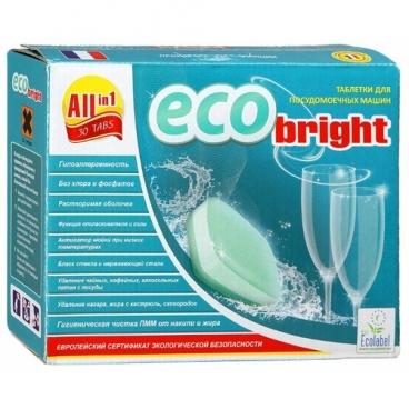 EcoBright All in 1 таблетки для посудомоечной машины