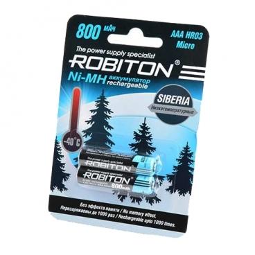 Аккумулятор Ni-Mh 800 мА·ч ROBITON Siberia AAA HR03 Micro 800