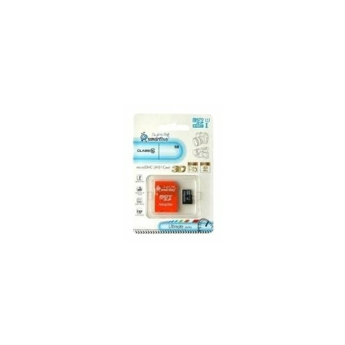 Карта памяти SmartBuy Ultimate microSDHC Class 10 UHS-I U1 + SD adapter