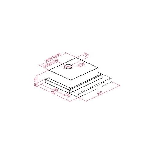 Встраиваемая вытяжка TEKA LS 60 GLASS WHITE (40495441)