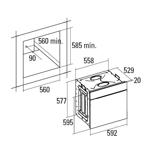 Электрический духовой шкаф CATA ME 6006 X