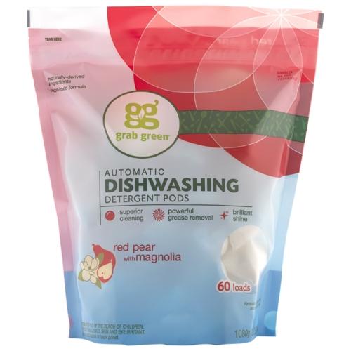 GrabGreen порошок (красная груша и магнолия) для посудомоечной машины