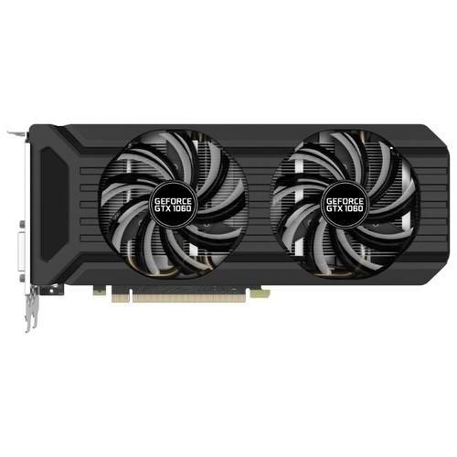 Видеокарта Palit GeForce GTX 1060 1506MHz PCI-E 3.0 6144MB 8000MHz 192 bit DVI HDMI HDCP Dual (NE51060015J9-1060D)