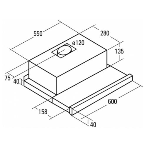 Встраиваемая вытяжка CATA TF-5260 WH /D