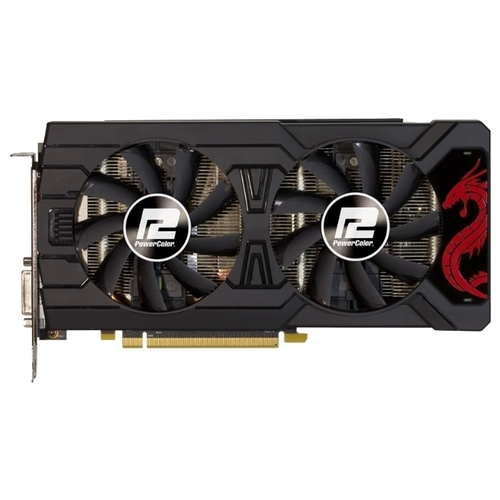 Видеокарта PowerColor Radeon RX 570 1250Mhz PCI-E 3.0 4096Mb 7000Mhz 256 bit DVI HDMI HDCP Red Dragon