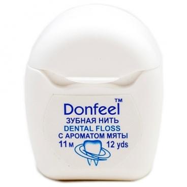 Donfeel зубная нить Мятная Mini 11 м