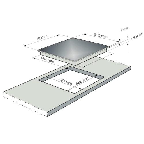 Варочная панель Korting HI 64021 BW