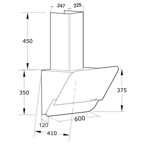Каминная вытяжка Korting KHC 66035 GW
