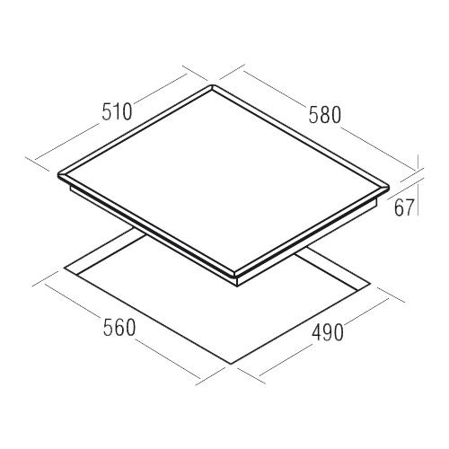 Варочная панель CATA TCDO 604 BV/B