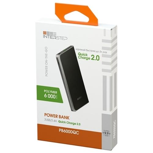 Аккумулятор INTERSTEP PB6000QC