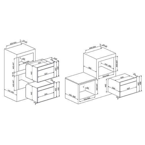 Электрический духовой шкаф smeg SF4102MCS
