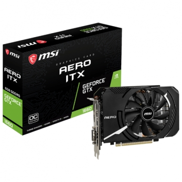 Видеокарта MSI GeForce GTX 1660 1830MHz PCI-E 3.0 6144MB 8000MHz 192 bit DVI DisplayPort HDMI HDCP AERO ITX OC
