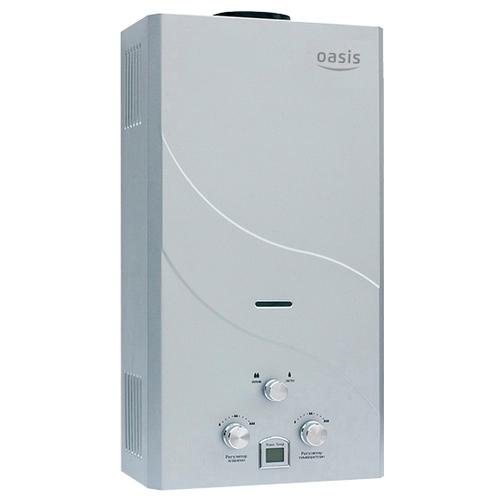 Проточный газовый водонагреватель Oasis 12 кВт сталь