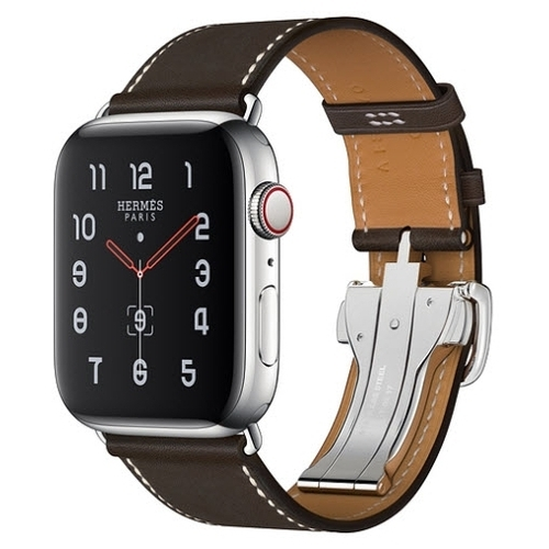 Часы Apple Watch Hermès Series 5 GPS + Cellular 44mm Stainless Steel Case with Single Tour Deployment Buckle