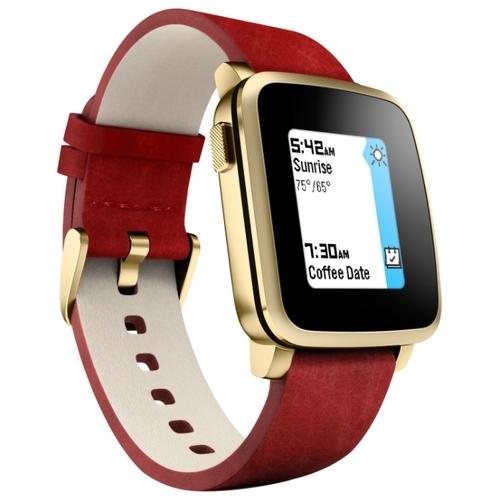 Часы Pebble Time Steel (leather)