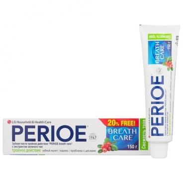 Зубная паста Perioe Breath Care Тройное действие Экстракт зеленого чая