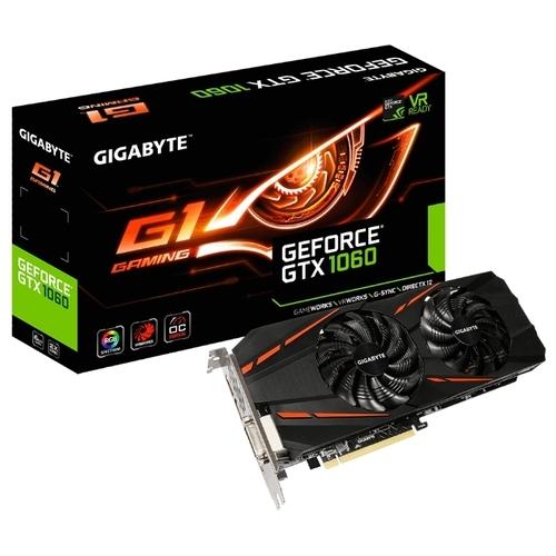 Видеокарта GIGABYTE GeForce GTX 1060 1620MHz PCI-E 3.0 6144MB 8008MHz 192 bit DVI HDMI HDCP Gaming rev. 2.0