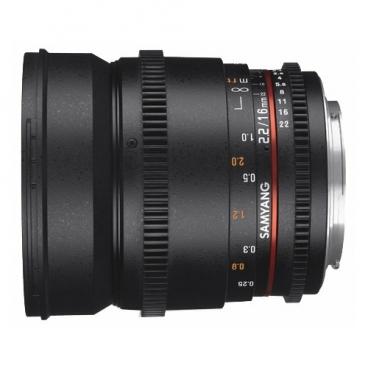 Объектив Samyang 16mm T2.2 ED AS UMC CS VDSLR II Canon EF-S