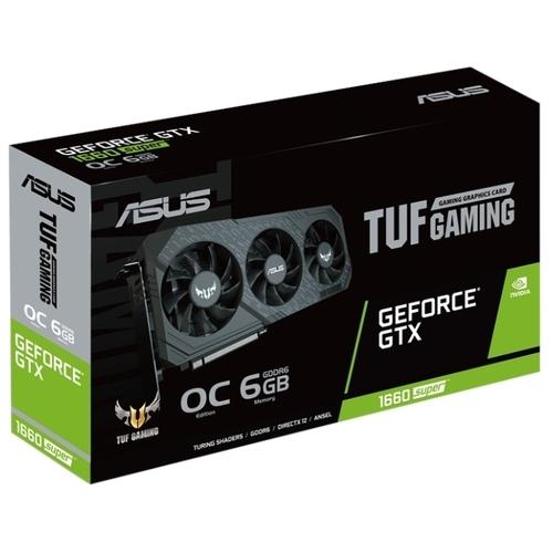 Видеокарта ASUS TUF GeForce GTX 1660 SUPER 1530MHz PCI-E 3.0 6144MB 14002MHz 192 bit DVI HDMI DisplayPort HDCP Gaming X3 OC