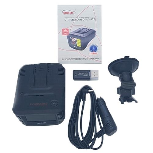 Видеорегистратор с радар-детектором SHO-ME Combo №5 А12, GPS, ГЛОНАСС