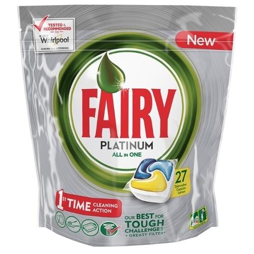Fairy Platinum All in 1 капсулы (лимон) для посудомоечной машины