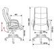 Компьютерное кресло Бюрократ CH-824 для руководителя