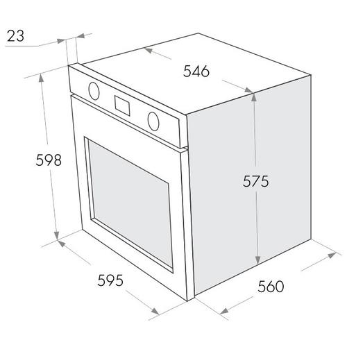 Электрический духовой шкаф MAUNFELD MEOFG 676RBG TRS