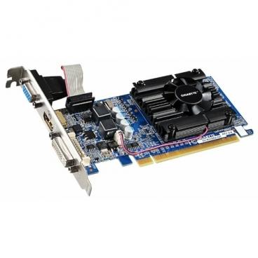 Видеокарта GIGABYTE GeForce 210 520Mhz PCI-E 2.0 1024Mb 1200Mhz 64 bit DVI HDMI HDCP rev. 5.0