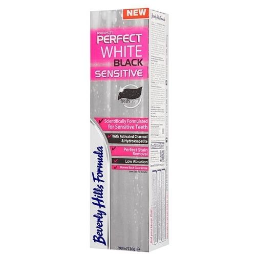 Зубная паста Beverly Hills Formula Perfect White Black Sensitive fresh mint
