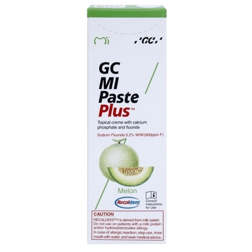 Зубная паста GC Corporation Mi paste plus, дыня