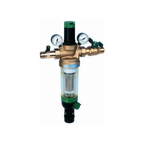 Фильтр механической очистки Honeywell HS 10S *AC муфтовый (НР/НР), латунь, с манометром