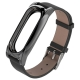 Mijobs Ремешок кожаный Leather Strap Plus для Xiaomi Mi Band 2
