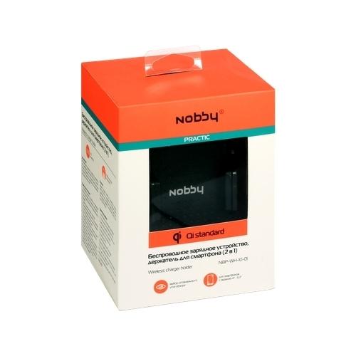 Держатель с беспроводной зарядкой Nobby Practic NBP-WH-10-01