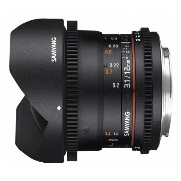 Объектив Samyang 12mm T3.1 ED AS NCS VDSLR Fish-eye Pentax K""
