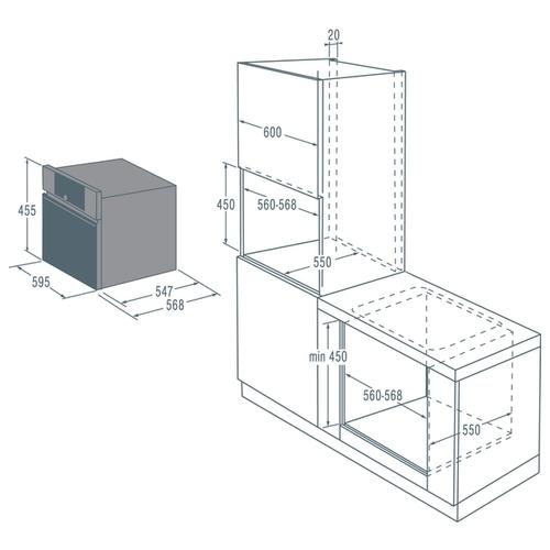 Электрический духовой шкаф Asko OCS8464S